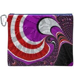 Fractal Art Red Design Pattern Canvas Cosmetic Bag (xxxl) by BangZart