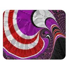 Fractal Art Red Design Pattern Double Sided Flano Blanket (large)  by BangZart