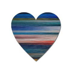 Background Horizontal Lines Heart Magnet by BangZart