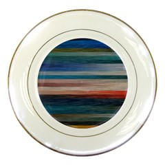 Background Horizontal Lines Porcelain Plates by BangZart