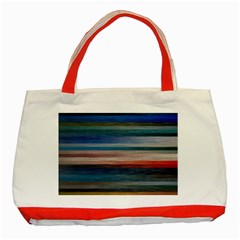 Background Horizontal Lines Classic Tote Bag (red)