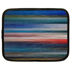 Background Horizontal Lines Netbook Case (xxl)
