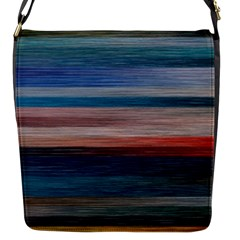 Background Horizontal Lines Flap Messenger Bag (s) by BangZart