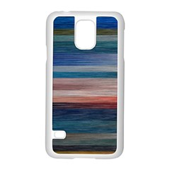 Background Horizontal Lines Samsung Galaxy S5 Case (white)