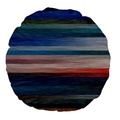 Background Horizontal Lines Large 18  Premium Flano Round Cushions by BangZart