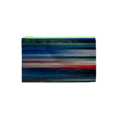 Background Horizontal Lines Cosmetic Bag (xs) by BangZart