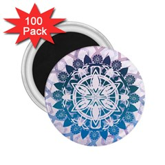 Mandalas Symmetry Meditation Round 2 25  Magnets (100 Pack)