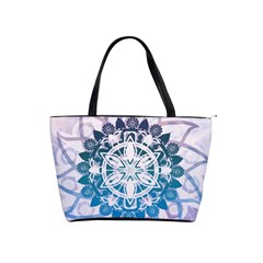 Mandalas Symmetry Meditation Round Shoulder Handbags by BangZart