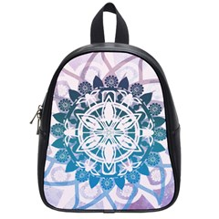 Mandalas Symmetry Meditation Round School Bags (small)  by BangZart