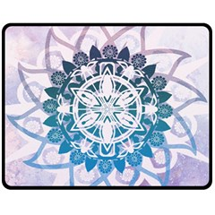Mandalas Symmetry Meditation Round Fleece Blanket (medium)