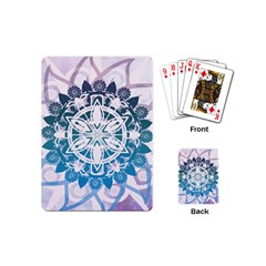 Mandalas Symmetry Meditation Round Playing Cards (mini)  by BangZart