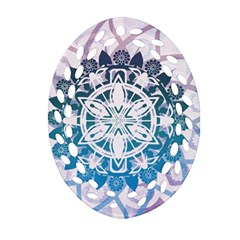Mandalas Symmetry Meditation Round Oval Filigree Ornament (two Sides) by BangZart