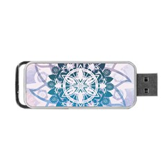 Mandalas Symmetry Meditation Round Portable Usb Flash (one Side) by BangZart