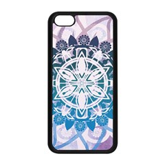 Mandalas Symmetry Meditation Round Apple Iphone 5c Seamless Case (black)