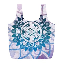 Mandalas Symmetry Meditation Round Full Print Recycle Bags (l)  by BangZart