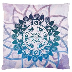 Mandalas Symmetry Meditation Round Large Flano Cushion Case (one Side) by BangZart