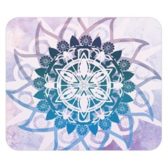 Mandalas Symmetry Meditation Round Double Sided Flano Blanket (small)