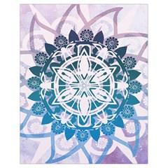 Mandalas Symmetry Meditation Round Drawstring Bag (small) by BangZart