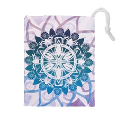 Mandalas Symmetry Meditation Round Drawstring Pouches (extra Large)