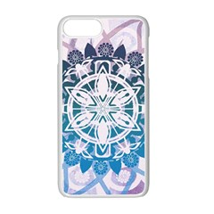 Mandalas Symmetry Meditation Round Apple Iphone 7 Plus White Seamless Case by BangZart