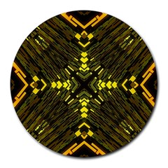Abstract Glow Kaleidoscopic Light Round Mousepads