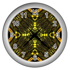Abstract Glow Kaleidoscopic Light Wall Clocks (silver)  by BangZart