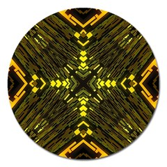 Abstract Glow Kaleidoscopic Light Magnet 5  (round)