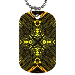 Abstract Glow Kaleidoscopic Light Dog Tag (two Sides) by BangZart