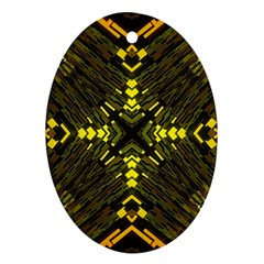 Abstract Glow Kaleidoscopic Light Oval Ornament (two Sides) by BangZart