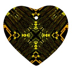 Abstract Glow Kaleidoscopic Light Heart Ornament (two Sides) by BangZart