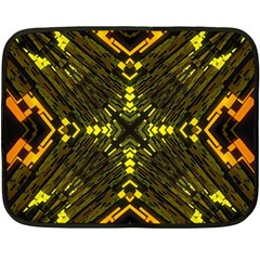 Abstract Glow Kaleidoscopic Light Fleece Blanket (mini) by BangZart
