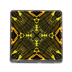 Abstract Glow Kaleidoscopic Light Memory Card Reader (square) by BangZart