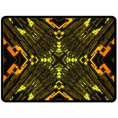 Abstract Glow Kaleidoscopic Light Fleece Blanket (large)  by BangZart