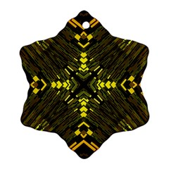 Abstract Glow Kaleidoscopic Light Snowflake Ornament (two Sides)