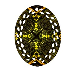 Abstract Glow Kaleidoscopic Light Oval Filigree Ornament (two Sides) by BangZart