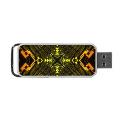 Abstract Glow Kaleidoscopic Light Portable Usb Flash (one Side) by BangZart