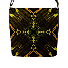 Abstract Glow Kaleidoscopic Light Flap Messenger Bag (l)  by BangZart