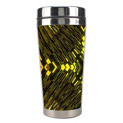 Abstract Glow Kaleidoscopic Light Stainless Steel Travel Tumblers by BangZart