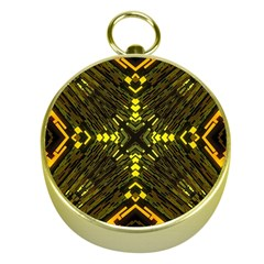 Abstract Glow Kaleidoscopic Light Gold Compasses by BangZart