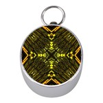 Abstract Glow Kaleidoscopic Light Mini Silver Compasses Front