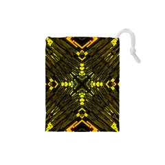 Abstract Glow Kaleidoscopic Light Drawstring Pouches (small)  by BangZart