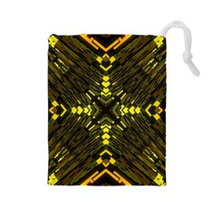 Abstract Glow Kaleidoscopic Light Drawstring Pouches (large)  by BangZart