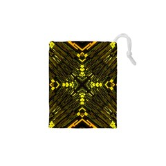 Abstract Glow Kaleidoscopic Light Drawstring Pouches (xs)  by BangZart