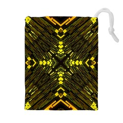 Abstract Glow Kaleidoscopic Light Drawstring Pouches (extra Large)