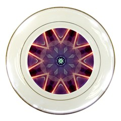 Abstract Glow Kaleidoscopic Light Porcelain Plates by BangZart