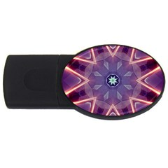 Abstract Glow Kaleidoscopic Light Usb Flash Drive Oval (4 Gb)