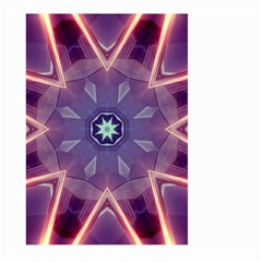 Abstract Glow Kaleidoscopic Light Large Garden Flag (two Sides) by BangZart