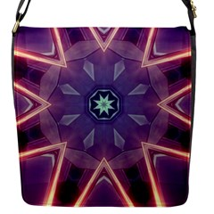 Abstract Glow Kaleidoscopic Light Flap Messenger Bag (s)