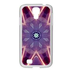 Abstract Glow Kaleidoscopic Light Samsung Galaxy S4 I9500/ I9505 Case (white)