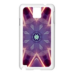 Abstract Glow Kaleidoscopic Light Samsung Galaxy Note 3 N9005 Case (white)